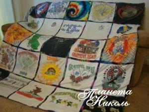 Одеяло памяти - идеи для повторного использования детской одежды