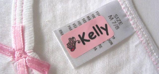 Персональная этикетка на одежду ребенка